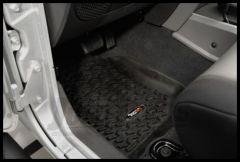 Rugged Ridge Front Floor Liner Pair In Black For 2007-13 Jeep Wrangler & Wrangler Unlimited JK 12920.01