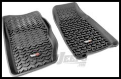 Rugged Ridge Front Floor Liner Pair Black For 1984-01 Jeep Cherokee XJ 12920.25