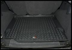 Rugged Ridge Rear Cargo Liner In Black For 2007-10 Jeep Wrangler & Wrangler Unlimited JK 12975.01