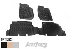 Rugged Ridge Front & Rear Floor Liner Kit For 2007-18 Jeep Wrangler JK Unlimited 4 Door Models 12987.04-