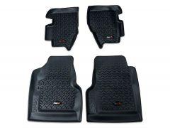 Rugged Ridge Front & Rear Floor Liner Mats For 1997-06 Jeep Wrangler TJ & TJ Unlimited Models 12987.10