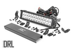 "Rough Country 12"" Cree LED Light Bar (Dual Row) (Chrome Series) 70912D"