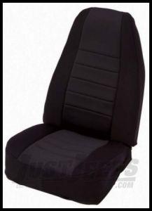 Rugged Ridge Neoprene Custom-Fit Front Seat Covers Black on black 1997-02 TJ Wrangler 13210.01