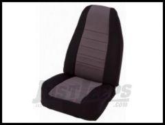 Rugged Ridge Neoprene Custom-Fit Front Seat Covers Gray on black 1997-02 TJ Wrangler 13210.09