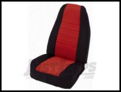 Rugged Ridge Neoprene Custom-Fit Front Seat Covers Red on black 1997-02 TJ Wrangler 13210.53