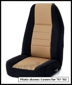 Rugged Ridge Neoprene Custom-Fit Front Seat Covers Tan on black 1991-95 Jeep Wrangler YJ 13211.04