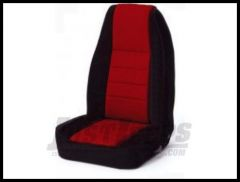 Rugged Ridge Neoprene Custom-Fit Front Seat Covers Red on black 1976-90 Jeep Wrangler YJ and CJ7 13212.53