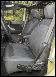 Rugged Ridge Elite Front Seat Covers Black For 2011+ Jeep Wrangler JK & Wrangler Unlimited 13216.02