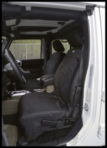 Rugged Ridge Elite Heated Front Seat Covers Black For 2007-10 Jeep Wrangler JK & Wrangler Unlimited 13216.03