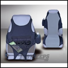 Rugged Ridge Neoprene Seat Protectors in Black/Gray 1976-06 Wrangler and CJ 13235.19