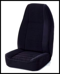 Rugged Ridge Fabric Custom-Fit Front Seat Covers Black on black 1981-90 Jeep Wrangler YJ and CJ 13242.01