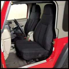 Rugged Ridge Fabric Custom-Fit Front Seat Covers Black on black 2003-06 TJ Wrangler, Rubicon and Unlimited 13243.01