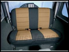 Rugged Ridge Neoprene Custom-Fit Rear Seat Cover Tan on black 1997-02 TJ Wrangler 13261.04