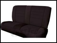 Rugged Ridge Neoprene Custom-Fit Rear Seat Cover Black on black 1980-95 Jeep Wrangler YJ and CJ7 13262.01