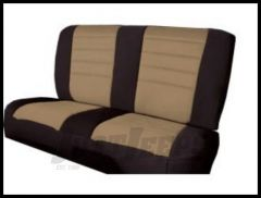 Rugged Ridge Neoprene Custom-Fit Rear Seat Cover Tan on black 1980-95 Jeep Wrangler YJ and CJ7 13262.04