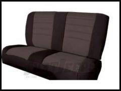 Rugged Ridge Neoprene Custom-Fit Rear Seat Cover Grey on black 1980-95 Jeep Wrangler YJ and CJ7 13262.09