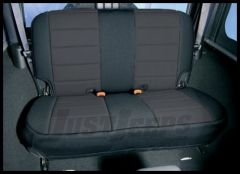 Rugged Ridge Neoprene Custom-Fit Rear Seat Cover Black on black 2003-06 TJ Wrangler, Rubicon and Unlimited 13263.01