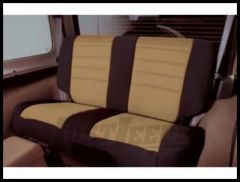 Rugged Ridge Neoprene Custom-Fit Rear Seat Cover Tan on black 2003-06 TJ Wrangler, Rubicon and Unlimited 13263.04