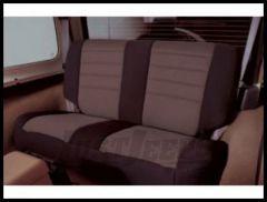 Rugged Ridge Neoprene Custom-Fit Rear Seat Cover Grey on black 2003-06 TJ Wrangler, Rubicon and Unlimited 13263.09