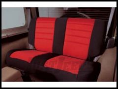 Rugged Ridge Neoprene Custom-Fit Rear Seat Cover Red on black 2003-06 TJ Wrangler, Rubicon and Unlimited 13263.53