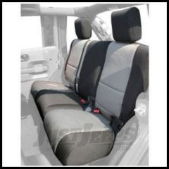 Rugged Ridge Custom Fit Neoprene Rear Seat Covers Black on Gray 2007+ JK Wrangler Unlimited 13264.09
