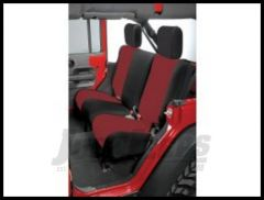 Rugged Ridge Custom Fit Neoprene Rear Seat Covers Black on Red 2007+ JK Wrangler 13264.53