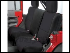 Rugged Ridge Custom Fit Neoprene Rear Seat Covers Black on Black 2007-18 JK Wrangler 13265.01