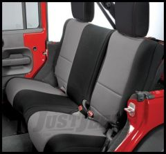 Rugged Ridge Custom Fit Neoprene Rear Seat Covers Black on Gray 2007+ JK Wrangler 13265.09