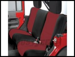 Rugged Ridge Custom Fit Neoprene Rear Seat Covers Black on Red 2007+ JK Wrangler 13265.53