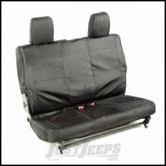 Rugged Ridge Rear Black Ballistic Seat Cover Set For 2007-10 Jeep Wrangler JK 2 Door 13266.05