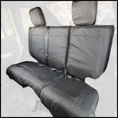 Rugged Ridge Rear Black Ballistic Seat Cover Set For 2007-10 Jeep Wrangler JK Unlimited 4 Door Models 13266.06