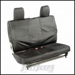 Rugged Ridge Rear Black Ballistic Seat Cover Set For 2011-18 Jeep Wrangler JK 2 Door 13266.07