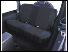 Rugged Ridge Fabric Custom-Fit Rear Seat Cover Black on black 1980-95 Jeep Wrangler YJ and CJ7 13280.01