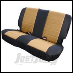 Rugged Ridge Fabric Rear Seat Cover For Tan on black 1980-95 Jeep Wrangler YJ and CJ7 13280.04