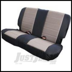 Rugged Ridge Fabric Rear Seat Cover Gray on black For 1980-95 Jeep Wrangler YJ and CJ7 13280.09