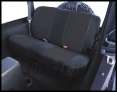 Rugged Ridge Fabric Custom-Fit Rear Seat Cover Black on black 2003-06 TJ Wrangler, Rubicon and Unlimited 13282.01