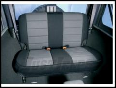 Rugged Ridge Fabric Custom-Fit Rear Seat Cover Gray on black 2003-06 TJ Wrangler, Rubicon and Unlimited 13282.09