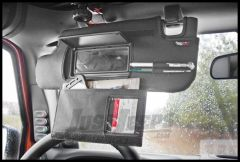 Rugged Ridge Sun Visor Organizer Covers with Mirror Cut Out For 2010-15 Jeep Wrangler & Unlimited JK 13305.08