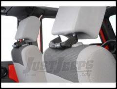 Rugged Ridge Rear Seat Grab Handles Black For 2007-18 Jeep Wrangler JK 2 Door & Unlimited 4 Door Models 13305.10