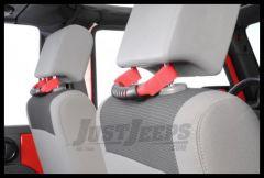 Rugged Ridge Rear Seat Grab Handles Red For 2007-18 Jeep Wrangler JK 2 Door & Unlimited 4 Door Models 13305.11