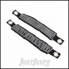 Rugged Ridge Gray Paracord A-Pillar Or Seat Mount Grab Handle For 2007-18 Jeep Wrangler JK & JL 2 Door & Unlimited 4 Door Models 13305.83