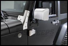 Rugged Ridge Chrome Mirror Covers For 2007-18 Jeep Wrangler JK 2 Door & Unlimited 4 Door Models 13311.01