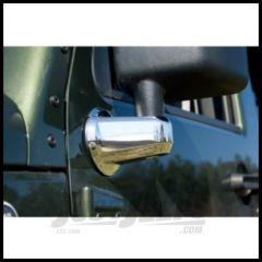 Rugged Ridge Chrome Mirror Arm Covers For 2007-18 Jeep Wrangler JK 2 Door & Unlimited 4 Door Models 13311.02