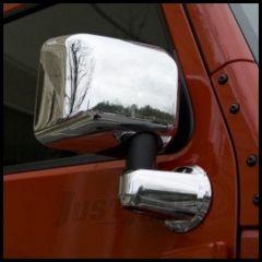 Rugged Ridge Chrome Mirror Cover Kit For 2007-18 Jeep Wrangler JK 2 Door & Unlimited 4 Door Models 13311.03