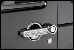 Rugged Ridge Chrome Door Handle Cover & Guard Kit 2007+ JK Wrangler 2-Door 13311.17