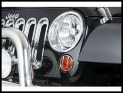 Rugged Ridge Chrome Headlight Trim Set For 2007-18 Jeep Wrangler JK 2 Door & Unlimited 4 Door Models 13311.20