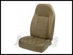 Rugged Ridge Premium High-Back Non Reclining Bucket Seat Tan denim 1976-02 Wrangler YJ TJ and CJ Series 13401.04