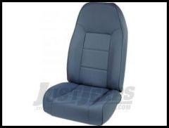 Rugged Ridge Premium High-Back Non Reclining Bucket Seat Blue denim 1976-02 Wrangler YJ TJ and CJ Series 13401.05