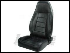 Rugged Ridge Premium High-Back Reclining Bucket Seat Black vinyl 1976-02 Wrangler YJ TJ and CJ Series 13402.01