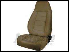 Rugged Ridge Premium High-Back Reclining Bucket Seat Tan denim 1976-02 Wrangler YJ TJ and CJ Series 13402.04